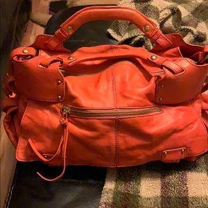 Kooba Tangerine color Leather Handbag Pocketbook
